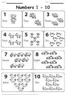 Toys Counting Cards 1-10