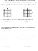 Writing An Equation When Given Two Points Worksheet