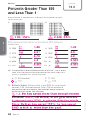 Percents Greater Than 100 And Less Than 1 Worksheet With Answers