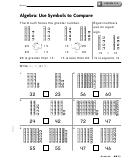 lesson 11 3 algebra use symbols to compare worksheet with answer key printable pdf download. Black Bedroom Furniture Sets. Home Design Ideas