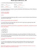Blood Type Problems Worksheet With Answer Key