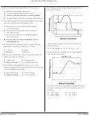 Kinetics/equilibrium Review Worksheet With Answers - Regents Chemistry Mr. Woods