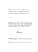 Heights And Distances Trigonometry Worksheet With Answers - The Institute Of Mathematical Science