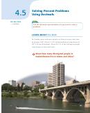 Solving Percent Problems Using Decimals Worksheet