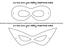 Safety Superheroes Mask Template
