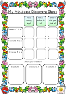 My Minibeast Discovery Sheet Template