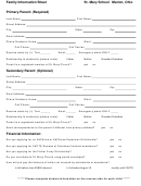 Family Information Sheet - St. Mary School Marion, Ohio