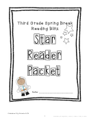 Third Grade Spring Break Reading Blitz Worksheet - Columbus City Schools - 2014