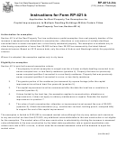 Instructions For Form Rp-421-k - Application For Real Property Tax Exemption For Capital Improvements To Multiple Dwelling Buildings Within Certain Cities
