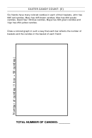 Easter Candy Count Bar Graph Worksheet With Answers
