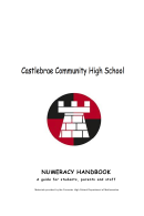 Numeracy Worksheet - Castlebrae Community High School - 2012