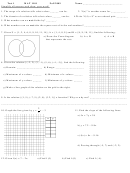 Math Test 1 Worksheet - Discrete Mathematics For Computing, Augusta Technical College, Fall 2009