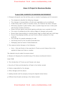 Elements Of Business Environment - Class 12