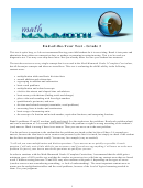 Math Mammoth End-of-the-year Test Worksheet - Grade 3