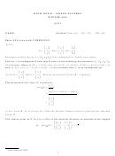 Math 205a,b - Linear Algebra Worksheet - 2013
