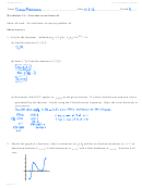Extrema On An Interval Worksheet With Answers- Calculus Maximus Ws 3.1