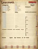 Lankhmar Character Sheet