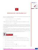 Module-1 Algebra - Mathematics Secondary Course - Exponents And Radicals Worksheet