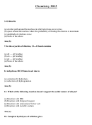 Chemistry Worksheet With Answers
