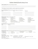 Pediatric Medical/family History Form