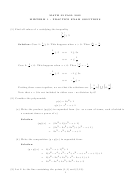 Midterm 1 Practice Exam Solutions - Math 32, University Of California, Berkeley, Fall 2012
