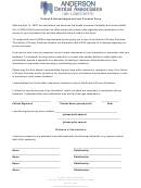 Patient Acknowledgement And Consent Form - Anderson Dental Associates