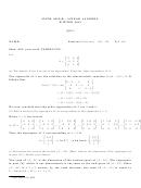 Math 205 A,b Quiz 8 Worksheet - 2013