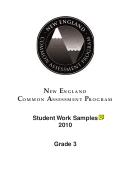 Student Work Samples - Grade 3, New England Common Assessment Program, 2010