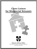 Cover Letters For Ministerial Resumes - Ministry Referral Office The Southern Baptist Theological Seminary Louisville, Kentucky Printable pdf