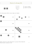 Parts Of A Group Shapes Fraction Worksheet With Answer Key