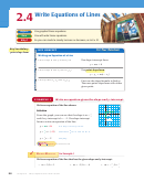 2.4 Write Equations Of Lines Examples And Worksheet - Chapter 2, Linear Equations And Functions