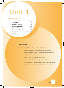Number Counting And Arithmetic Worksheets - Unit 1