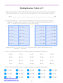 Multiplication Table Of 3 Worksheet