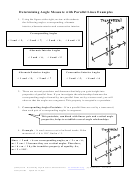 Determining Angle Measure With Parallel Lines Worksheets With Answer Key - Johnny Wolfe, Jay High School Santa Rosa County Florida - 2001