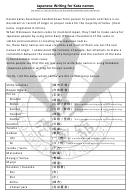 Japanese Writing Kata Names Chart