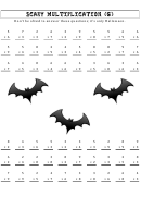 Scary Multiplication (g) Worksheet With Answer Key