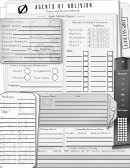 Agents Of Oblivion Character Sheet