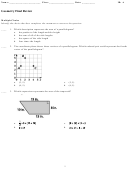 Geometry Final Review Worksheet With Answer Key