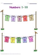Numbers 1-10 Worksheet