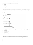 Economics Practice Exam Worksheets With Answer Key