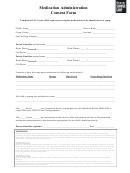 Medication Administration Consent Form - Beaver Summer Camp