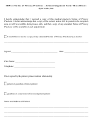 Hipaa Notice Of Privacy Practices - Acknowledgement Form Three Rivers Ayurveda, Inc.
