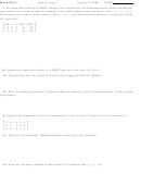 Math 205a Quiz 01 Worksheet - Bates College - 2008