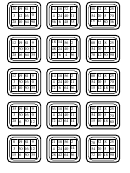 Math Bingo Cards Containing Answers To Multiplications Template