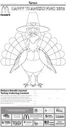 Happy Thanksgiving Day Turkey Coloring Sheet