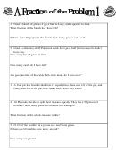 A Fraction Of The Problem 1 Worksheet