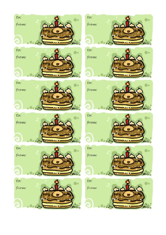 Gift Tag Template Printable pdf