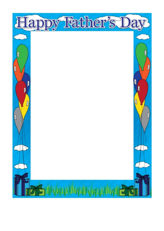 Happy Fathers Day Page Border Templates Printable pdf