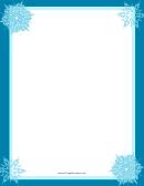 4 Snowflakes Page Border Templates