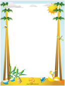 Palm Trees Page Border Templates